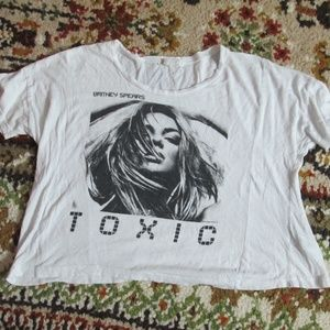Britney Spears Toxic Crop Top Shirt Size M/L